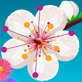 Aa Dots Color Flowers icon