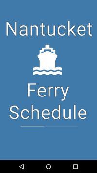 Nantucket Ferry Schedule poster