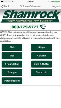 Shamrock Materials Mobile App apk screenshot
