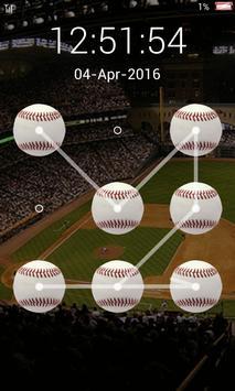 screen lock baseball pattern poster