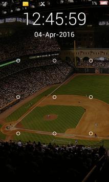 screen lock baseball pattern screenshot 2