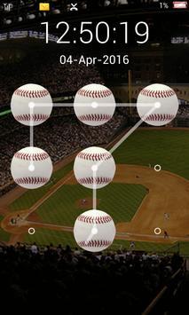 screen lock baseball pattern screenshot 3