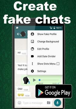 Notsapp Fake chat, SMS, Calls, Fake conversations screenshot 3