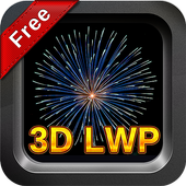 Free 3D Real Fireworks - LWP icon