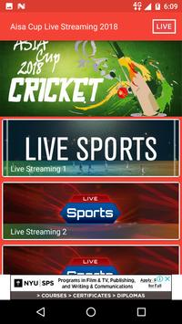 Asia Cup Live 2018 poster