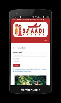 Shaadi Abroad Matrimonial screenshot 1