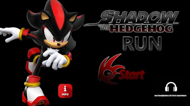 Poster Shadow The Hedgehog Run