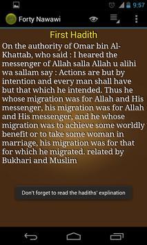 Forty Nawawi Hadiths +Explanat apk screenshot