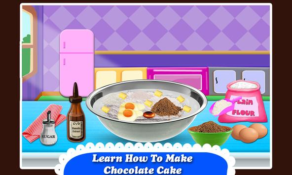 Black Forest Chocolate Cake Maker! Cooking Game screenshot 1