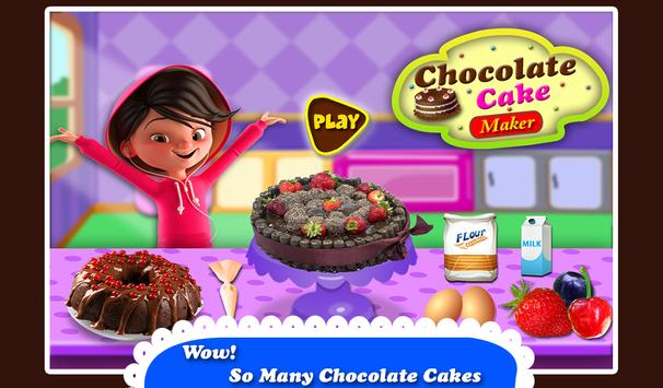 Black Forest Chocolate Cake Maker! Cooking Game screenshot 4