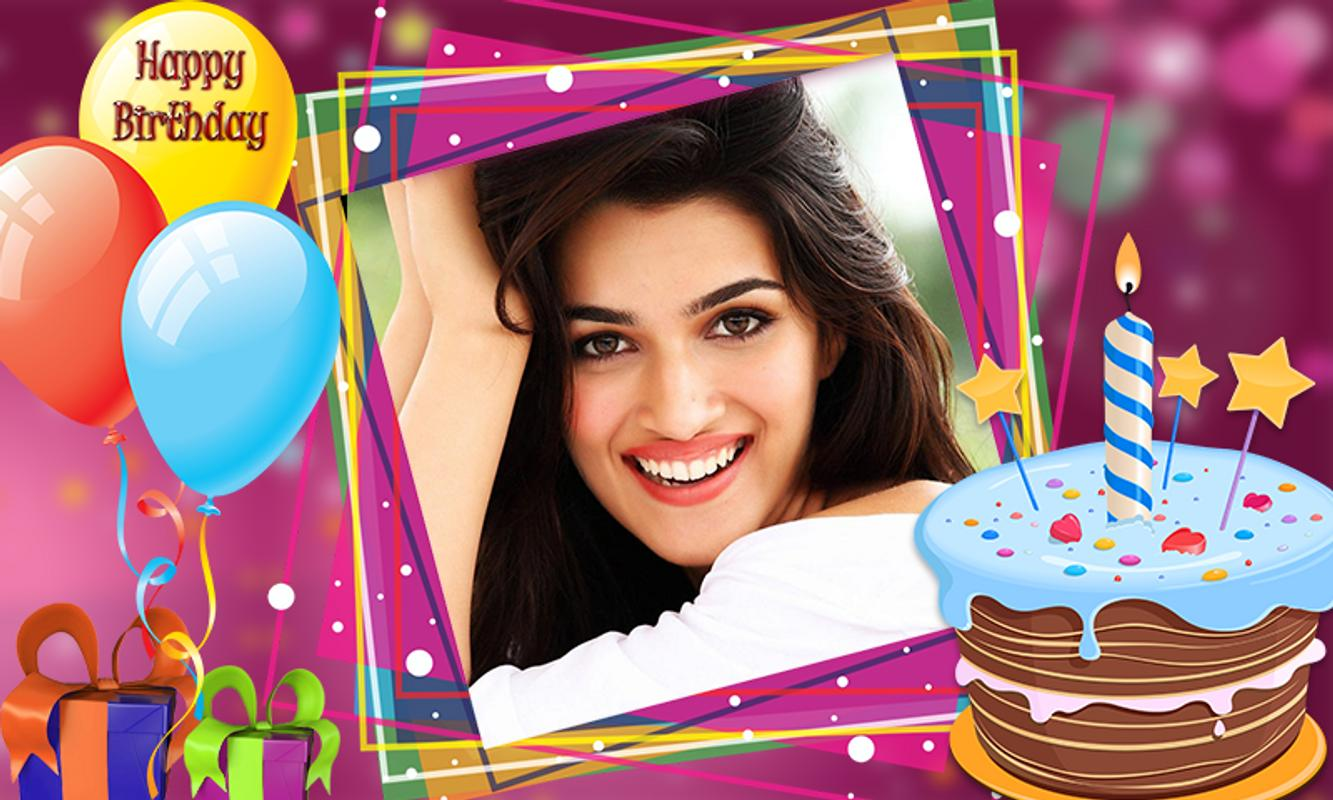 Happy Birthday Photo Frame Name Photo On Cake For Android Apk