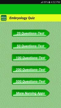 Embryology Quiz apk screenshot