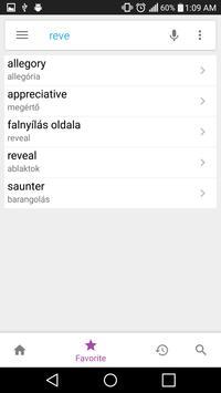 Hungarian Dictionary Lite apk screenshot