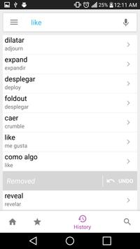 Spanish Dictionary Lite apk screenshot