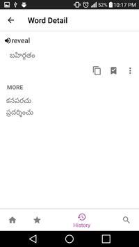 Telugu Dictionary Lite screenshot 2