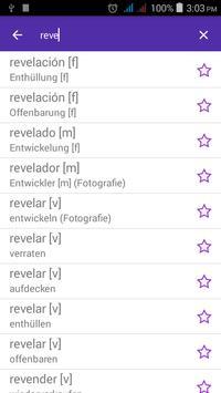 Spanish German Dictionary screenshot 2