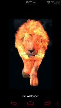 Flaming Lion Live Wallpaper screenshot 3
