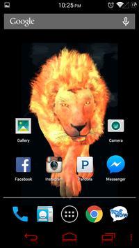 Flaming Lion Live Wallpaper poster
