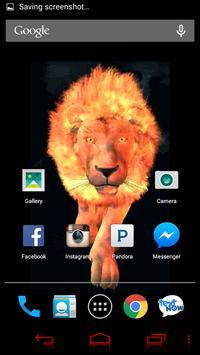 Flaming Lion Live Wallpaper screenshot 1