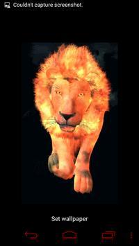 Flaming Lion Live Wallpaper screenshot 2