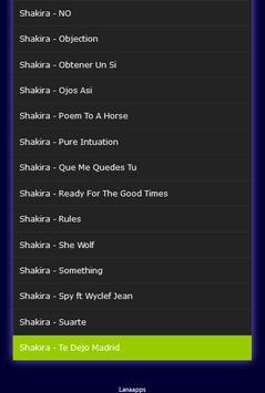 All Songs Shakira Hits apk screenshot