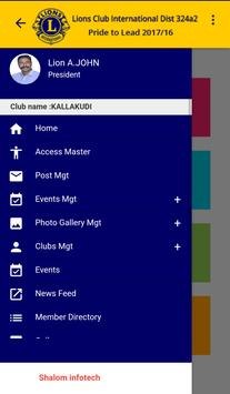 Lions Club District Application apk screenshot