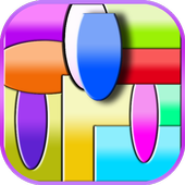 Curved King Shape Puzzle icon