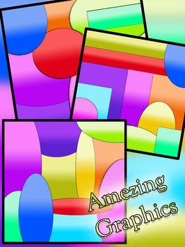 Curved King Shape Puzzle poster