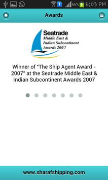 Sharaf Shipping Agency apk screenshot