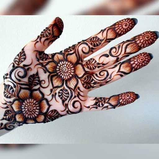 Simple Gol Tikka Mehndi Designs Rose Henna For Android Apk Download