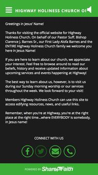 Highway Holiness Church of MD apk screenshot