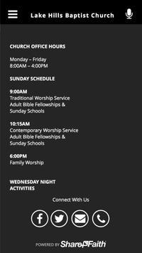 Lake Hills Baptist Church apk screenshot