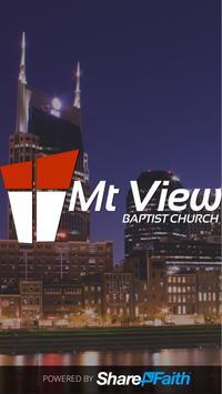 Mt View Baptist Church poster