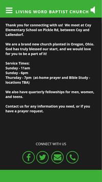 Living Word Baptist Church apk screenshot
