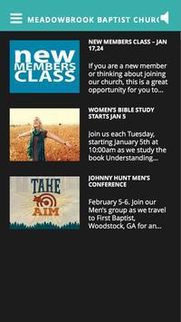 Meadowbrook Baptist Oxford AL apk screenshot