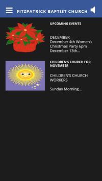 Fitzpatrick Baptist Church poster