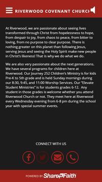 Riverwood Covenant Church poster