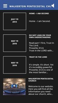 Walkerton Pentecostal Church poster