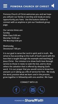 Pomona Church of Christ poster