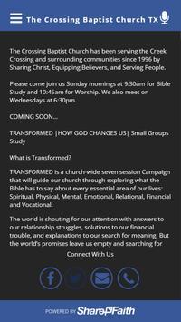 The Crossing Baptist Church TX apk screenshot