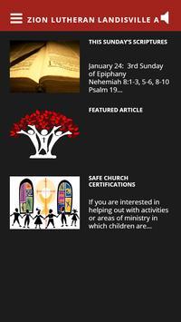 Zion Lutheran Landisville App poster