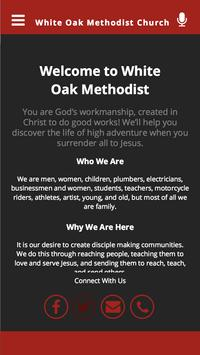 White Oak Methodist Church poster