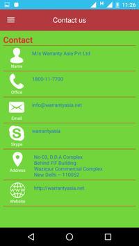 Warranty Asia screenshot 3