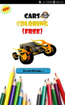 Cars Coloring free game apk screenshot