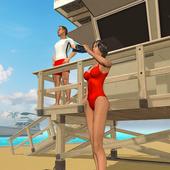 Beach Lifeguard Rescue icon