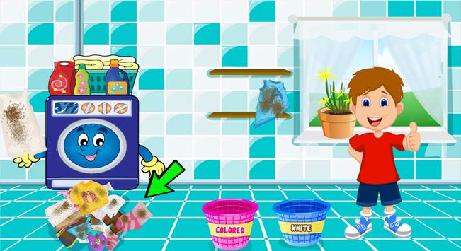 Kids Laundry Wash Cleaning Games 2018 screenshot 2