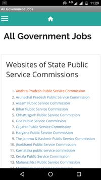PSC. Public Service Commissions Govt Jobs in india poster