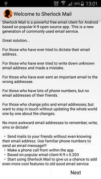 Sherlock Mail Affiche