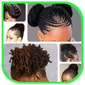 African Women Hairstyle icon