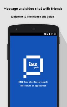 Free imo video call chat guide poster